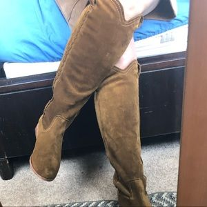 Frye boots. Used once. Small stain on picture